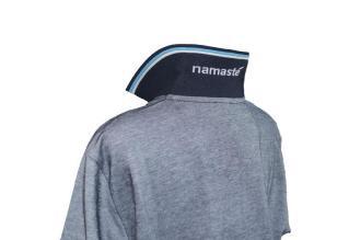 Polo-Shirt dunkelblau-weiß-melange _