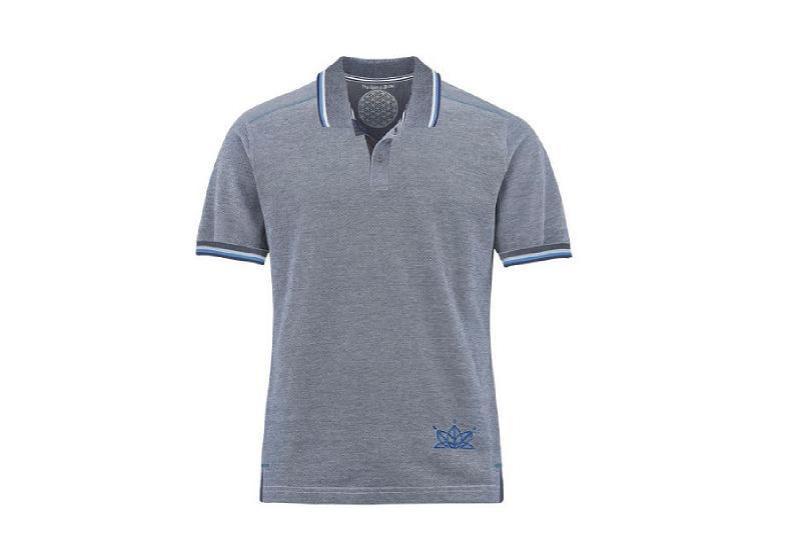 Poloshirt dunkelblau-weiß-melange