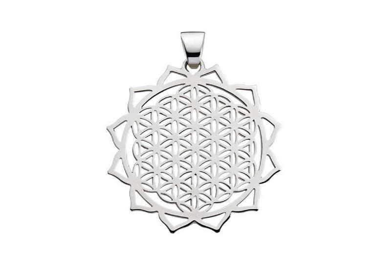 Lebensblume Lotus – Silberschmuck Anhänger