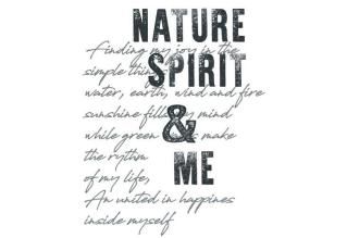 T-Shirt Nature Spirit türkisblau_Print