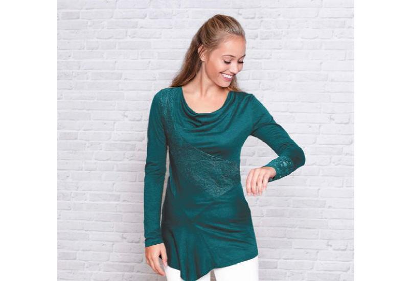 Spitzen-Tunika smaragd
