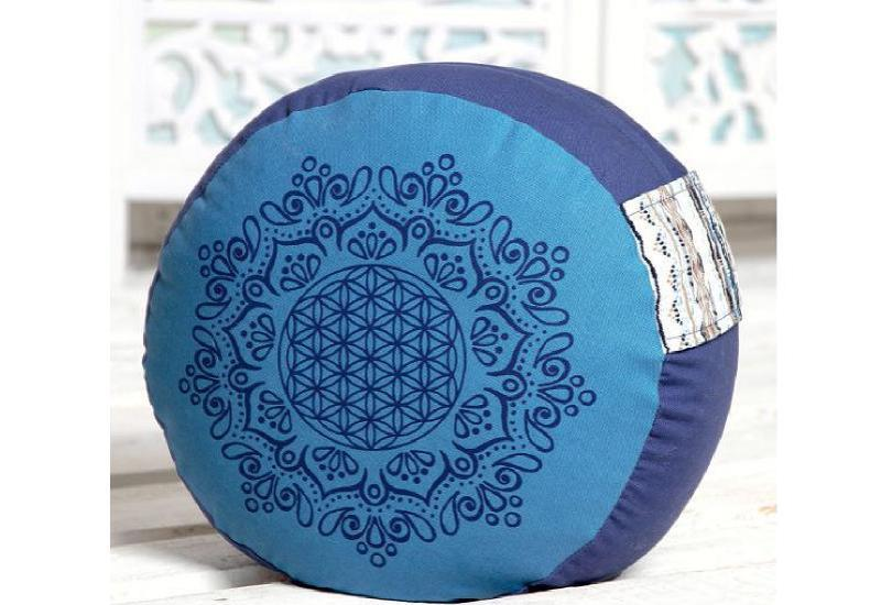 Meditationskissen azur-ozeanblau
