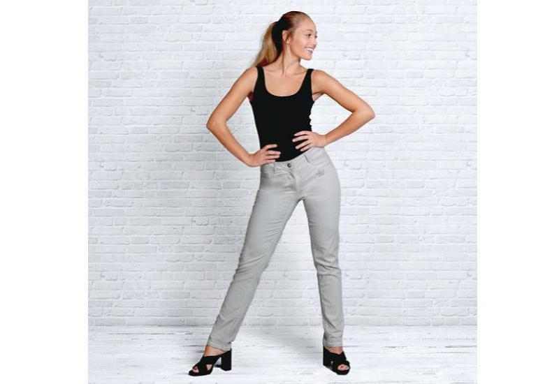Bio-Jeans silbergrau