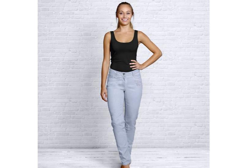 Bio-Jeans hellblau