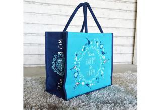 Jutetasche türkis-blau