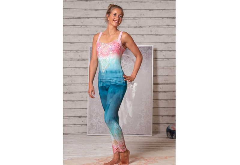 Yoga-Legging indigo-peach