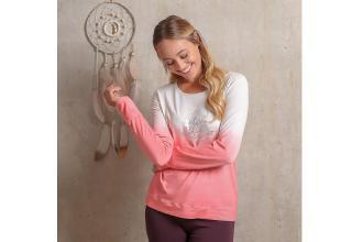 Langarm-Shirt Shakti flamingo/weiß_