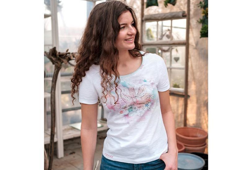 Shirt Lotus Aquarell