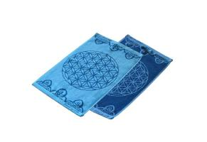 Gästetuch Happy Flower of Life ozeanblau-azur