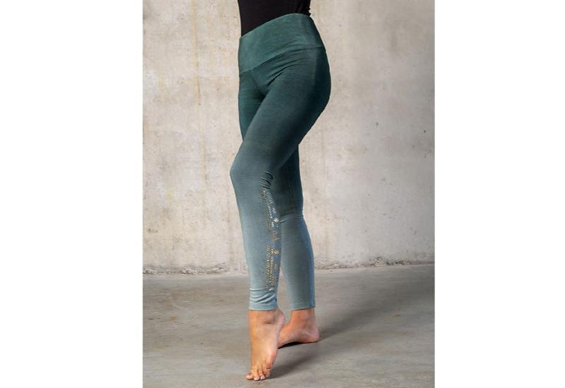 Yoga Leggings lang green-smaragd